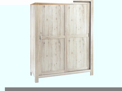 Lyon Washed Oak Large Sliding Door Wardrobe