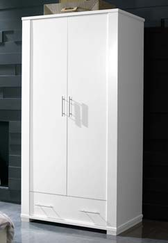 Metric 2 Door Wardrobe in White - WHILE STOCKS