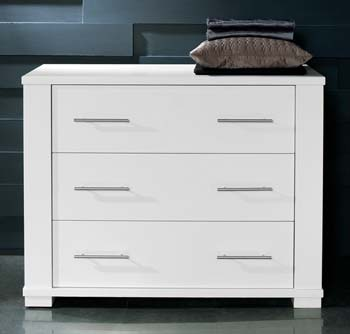 Metro 3 Drawer Chest in White - WHILE STOCKS LAST!