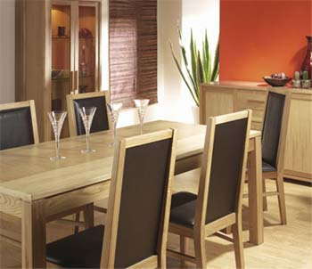 Montana Dining Set with Oak Framed Chairs