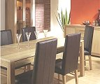Designs Montana DS with 6 leather chairs