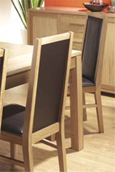 Montana Oak Framed Dining Chairs (pair)