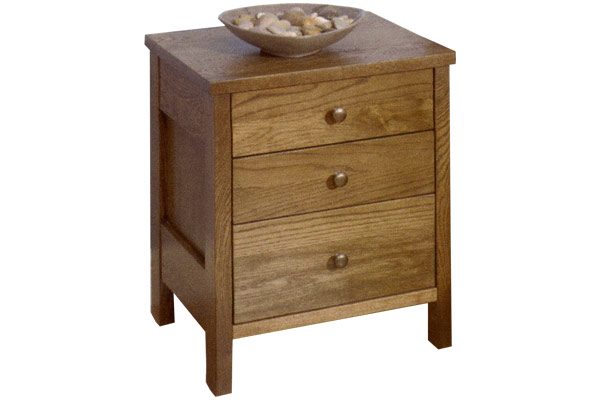 Newhaven Three Drawer Bedside Table