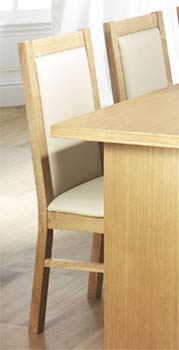 Tetro Dining Chairs (pair) in Oak