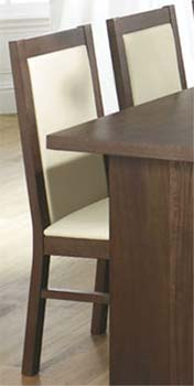 Tetro Dining Chairs (pair) in Walnut