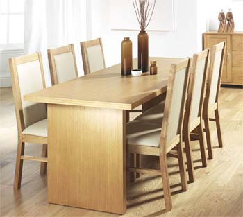 Tetro Dining Set in Oak