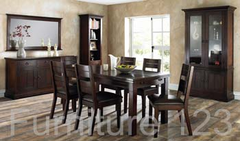 Todela Dark 6-8 Seater Extending Dining Set