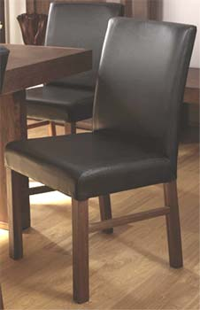 Tokyo Brown Leather Dining Chairs (pair)