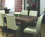 Designs Tokyo Dining Set with 6 Leather