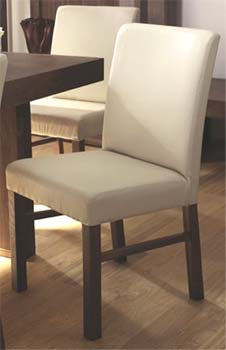 Tokyo Ivory Leather Dining Chairs (pair)