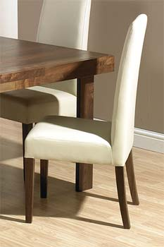Tokyo Tall Ivory Leather Dining Chairs (pair)