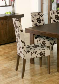 Tokyo Walnut Tall Floral Chairs (pair)