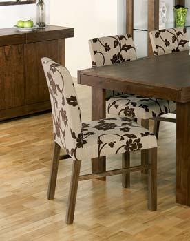 Tokyo Walnut Wide Floral Chairs (pair) - WHILE