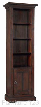Toledo Dark Narrow Bookcase
