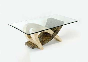 Tsavo Coffee Table in Brown and Cream