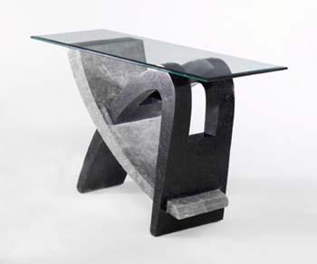 Tsavo Hall Table in Grey and Black