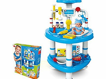 DOCTOR PLAY STATION SET CHILDRENS ROLE PRETEND MEDICAL KIT PLAY TOY
