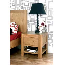 Lyon Oak 1 Drawer Bedside Table