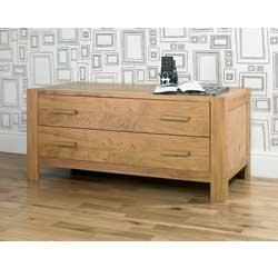 Lyon Oak 2 Drawer Wide Chest