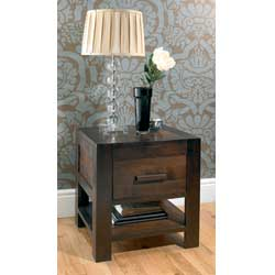 Lyon Walnut 1 Drawer Bedside Table