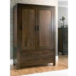 Lyon Walnut 2 Door 2 Drawer Combination Wardrobe