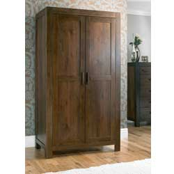 Lyon Walnut 2 Door Wardrobe