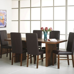 Panama Large Dining Table & Leather Chairs