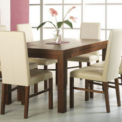 Panama Small Dining Table And Leather Chairs
