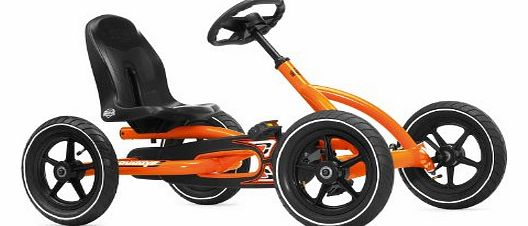 Ride On Kids Buddy Pedal Powered Go Kart - Orange