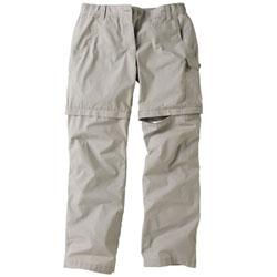 Womens Voyager Zip Off Pant - Cement
