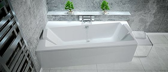 Besco Offset Corner Bath *INFINITY* SPACE SAVER 1500 x 900mm with Front Panel and Legs * LEFT HAND*