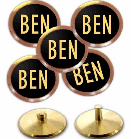 Personalised Golf Ball Markers (Gold on Black)