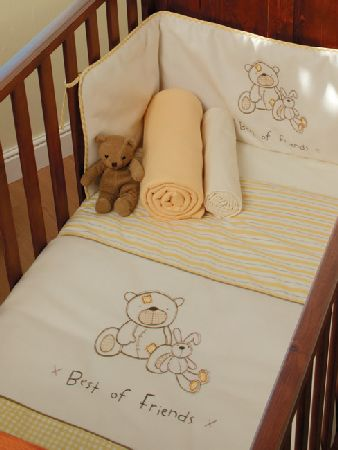 Yellow Cot and Cot Bed Nursery Bedding Bale
