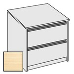 Selling Budget Desk End 2 Drawer Side Filing Cabinet For Return of Ergonomic Desk-Beech