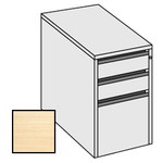 Selling Budget Desk End 3 Drawer Pedestal For Return of Ergonomic Desk-Beech