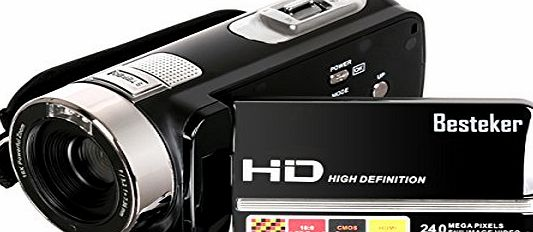Besteker Video Camcorder, Besteker Portable HD 1080p IR Night Vision Max. 24.0 MP Enhanced Digital Camera Camcorders DV 3.0 TFT LCD Rotation Touch Screen Video Recorder