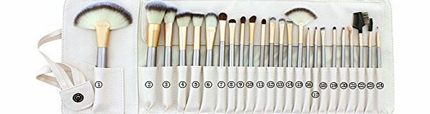 BESTOPE BST-EMALL 24pcs Horse Hair Professional Makeup Cosmetic Brushes Set Brushes Tools Set Kits for Women Beauty