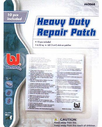 10 x Bestway Heavy Duty Repair Patch for inflatable airbeds, toys, pools, lilos etc #62068