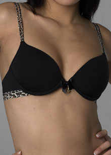 Microfibre lightly lined seamless bra