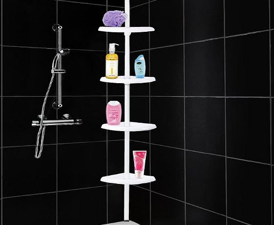 4 Tier Adjustable Shelf Bathroom Organiser