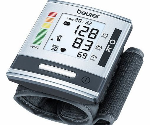 Beurer BC60 Wrist Blood Pressure Monitor with Patented Resting Indicator