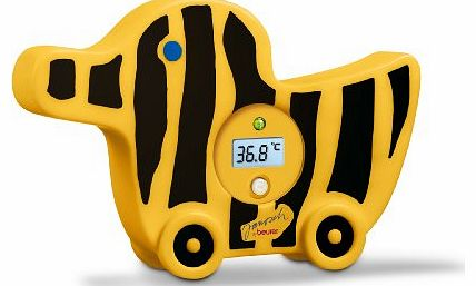 JBY08 Digital Bath Thermometer with Led Alarm (Black/ Yellow)
