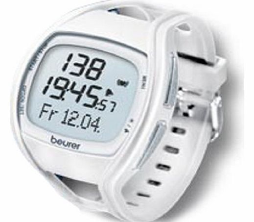 Beurer PM 45 Heart Rate Monitor - White/Blue