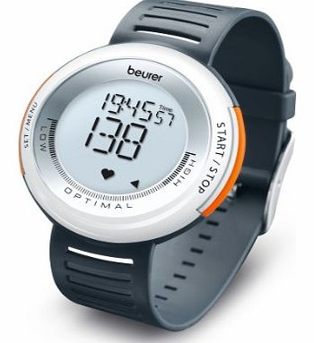 Beurer PM 58 Heart Rate Monitor - White/Dark Grey