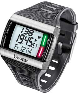 Beurer PM62 Heart Rate Monitor Watch - Steel
