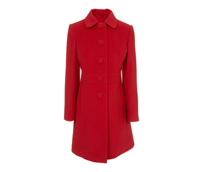 3/4 length peter pan velour coat