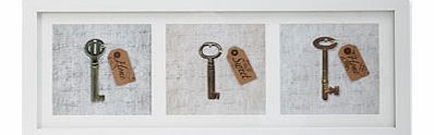 3D Home Sweet Home Keys Framed Print Wall Art,