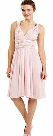 Ballet Pink Short Twist & Wrap Dress, pale pink