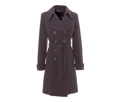 Belted trench style coat