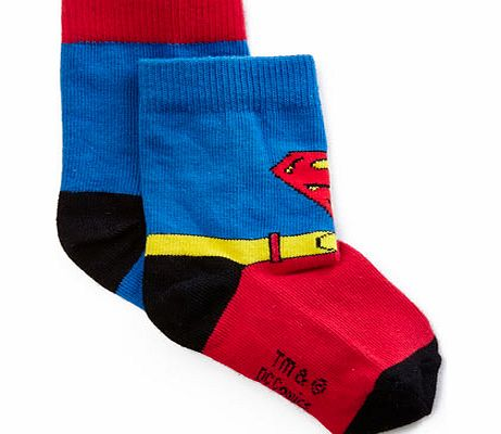 Boys 2 Pack Superman Red Socks, reds 1495406933